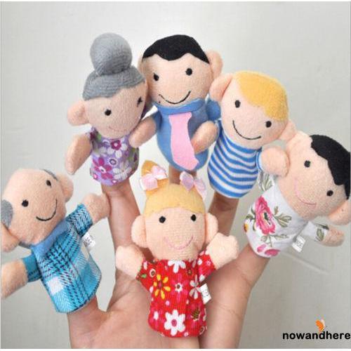 ERA-12pcs Animal Puppets Chinese Zodiac Finger Puppet Plush Toy Kids Baby Dolls