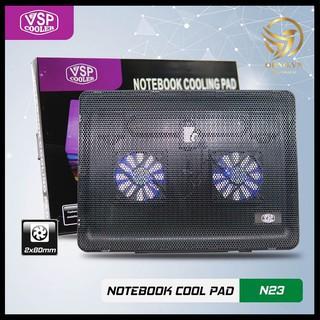 Đế Quạt Tản Nhiệt Laptop N23 2 Fan Quạt Làm Mát Laptop Đế Quạt Hút Gió Máy Tính thumbnail