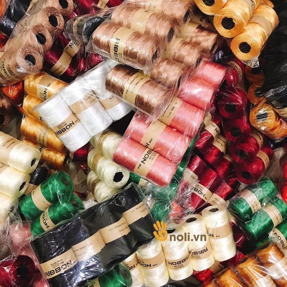 Sợi dệt ribbon chuyên móc mũ túi giày (Mã 01 đến 20)