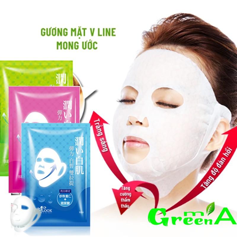 Mặt nạ nâng cơ V line dưỡng da 360 Sexylook Q10 hàng Đài Loan cao cấp Căng mịn, Dưỡng Ẩm, Dưỡng Trắng
