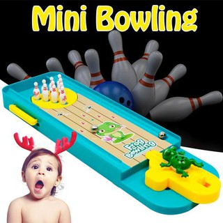 Cartoon Animal Mini Bowling Set Frog Bowls Family Entertainment Children Toy
