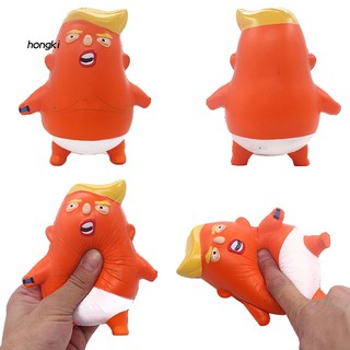 【HKM1】Cartoon Trump Squishy Slow Rising Squeeze Relieve Stress Kids Adult Vent Toy