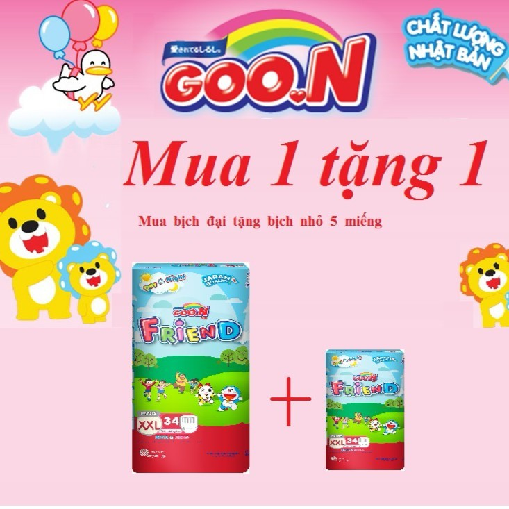 [An Giang] Bỉm/tã quần Goon Friend (không tặng quà) size M58, L48, XL42,