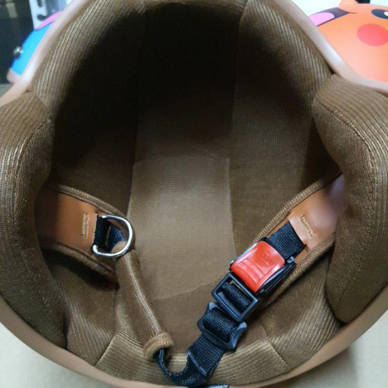 Mũ Bảo Hiểm 3/4 lót nâu hình picachu và đô rê mon