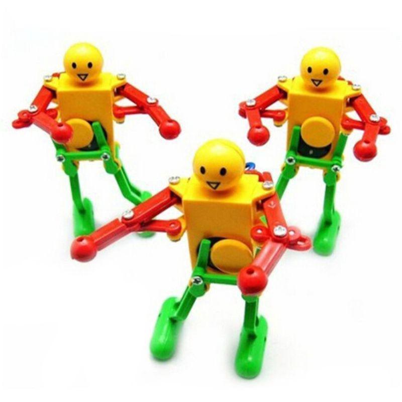 Dancer Clockwork Spring Dancing Robot Wind up Retro Vintage Mechanical kids Toys