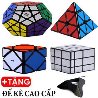 Trọn Bộ 4 Rubik Biến Thể Sticker Viền Đen Cao Cấp Hàng Nhập Khẩu