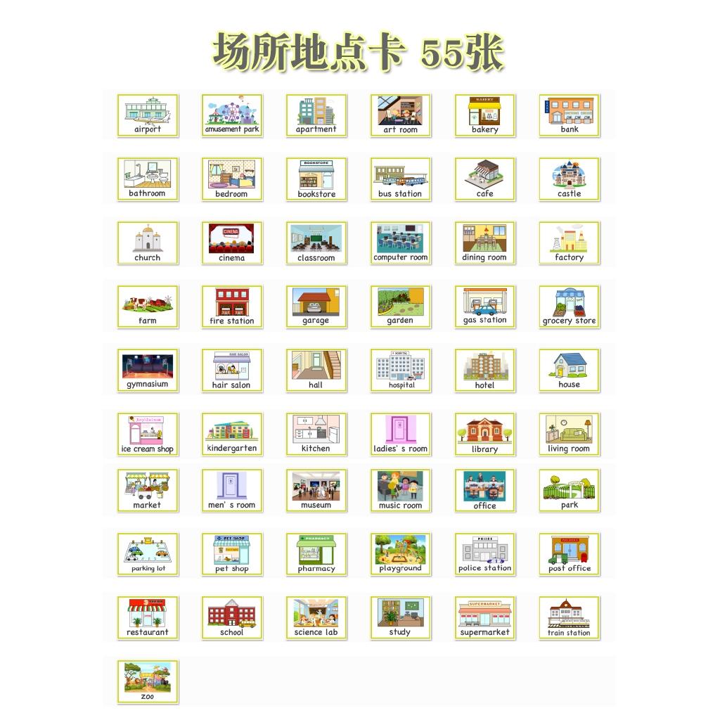 Bộ 55 Thẻ Hình Học Tiếng Anh Cho Bé