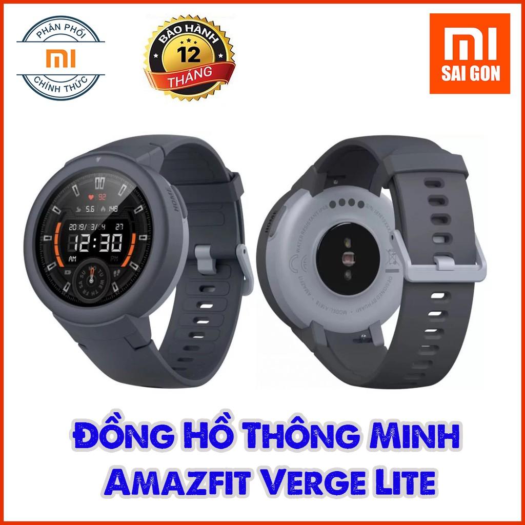 Đồng Hồ Thông Minh Xiaomi Huami Amazfit Verge Lite - Xám - Bản QUỐC TẾ Bảo Hành 12 Tháng Chính Hãng