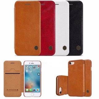 (GIÁ RẺ)Bao da iPhone X 6 6 Plus 7 Plus 7s Plus Nillkin Qin PU Leather