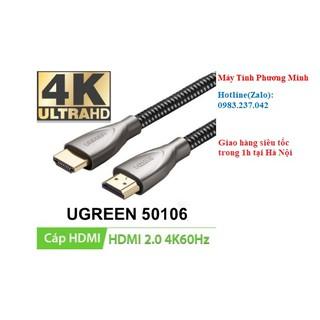 Cáp HDMI 2.0 Carbon UGREEN 50106 HD131 dài 1 mét- Sản phẩm chính hãng bảo hành 18 tháng