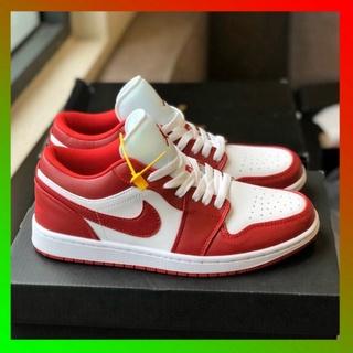 [FREE SHIP] Giày thể thao và sneakers jordan đỏ trắng nam nữ