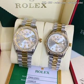 Đồng hồ nam nữ RL, đồng hồ cặp đôi máy pin dây kim loại cao cấp - Shop115 thumbnail