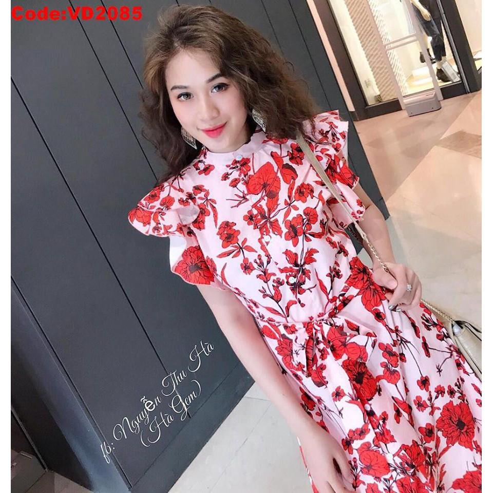Xinh xắn dịu dàng như tiểu thư với thiết kế đầm hoa đỏ kết nút phối tay cánh tiên kèm belt xưởng mới về nóng hổi đây ạ - 22200777 , 1197385804 , 322_1197385804 , 280000 , Xinh-xan-diu-dang-nhu-tieu-thu-voi-thiet-ke-dam-hoa-do-ket-nut-phoi-tay-canh-tien-kem-belt-xuong-moi-ve-nong-hoi-day-a-322_1197385804 , shopee.vn , Xinh xắn dịu dàng như tiểu thư với thiết kế đầm hoa