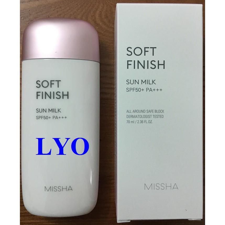 Kem chống nắng cao cấp Missha All-Around Safe Block Soft Finish Sun Milk SPF50+/PA+++