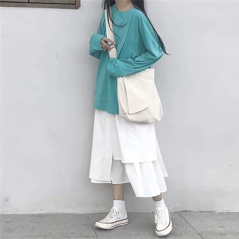 💃 Chân Váy Lệch Vạt 2 Tà So Hot