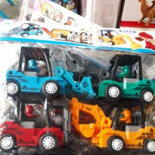 Túi đồ chơi xe công trình mô hình nhựa cao cấp.