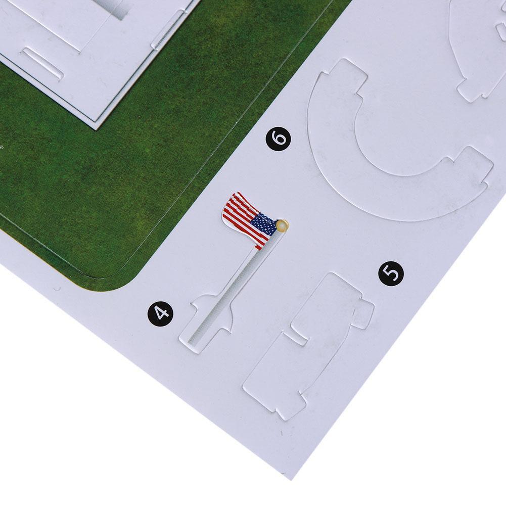 The White House Shape 3D Paper Puzzle DIY Jigsaw Children Educational Toys