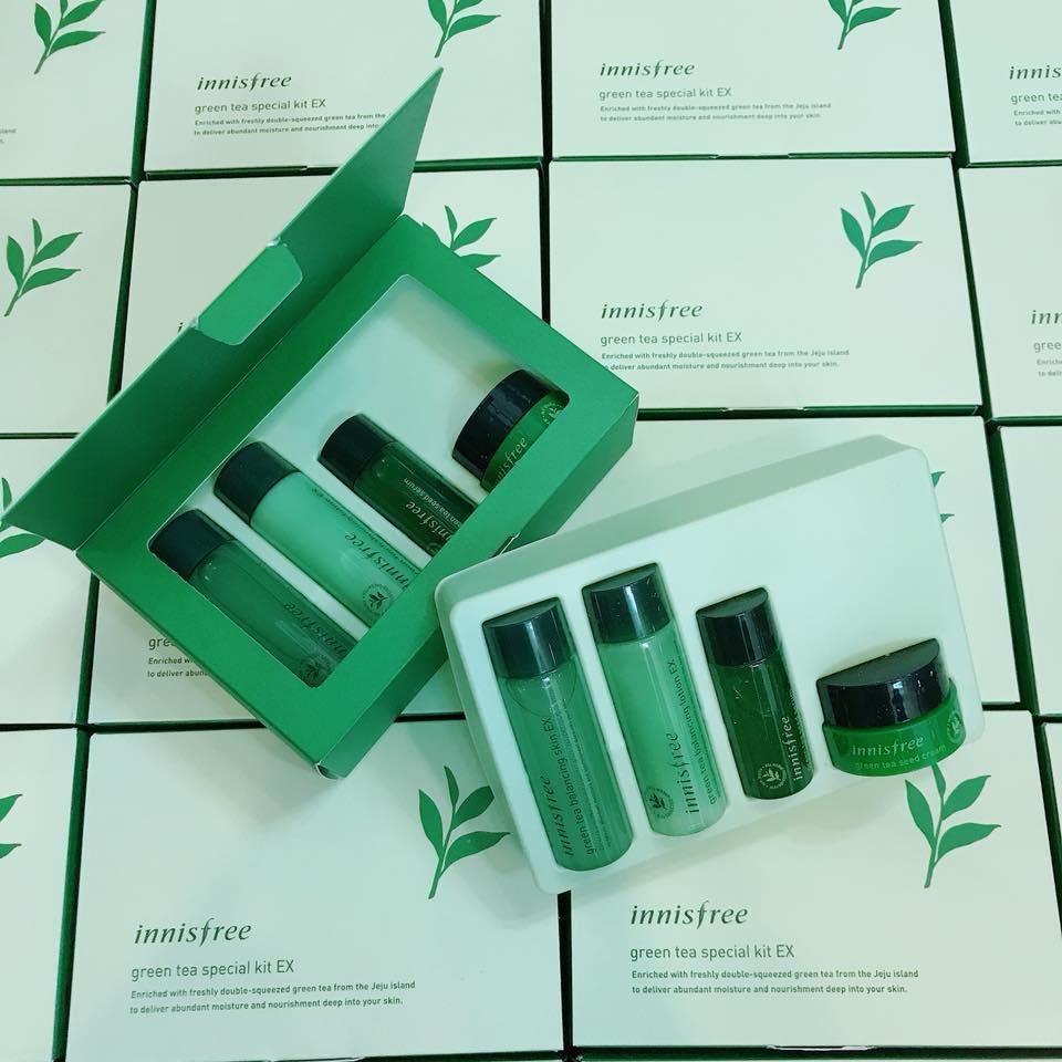 SALE SET DƯỠNG DA INNISFREE GREEN TEA SPECIAL KIT EX