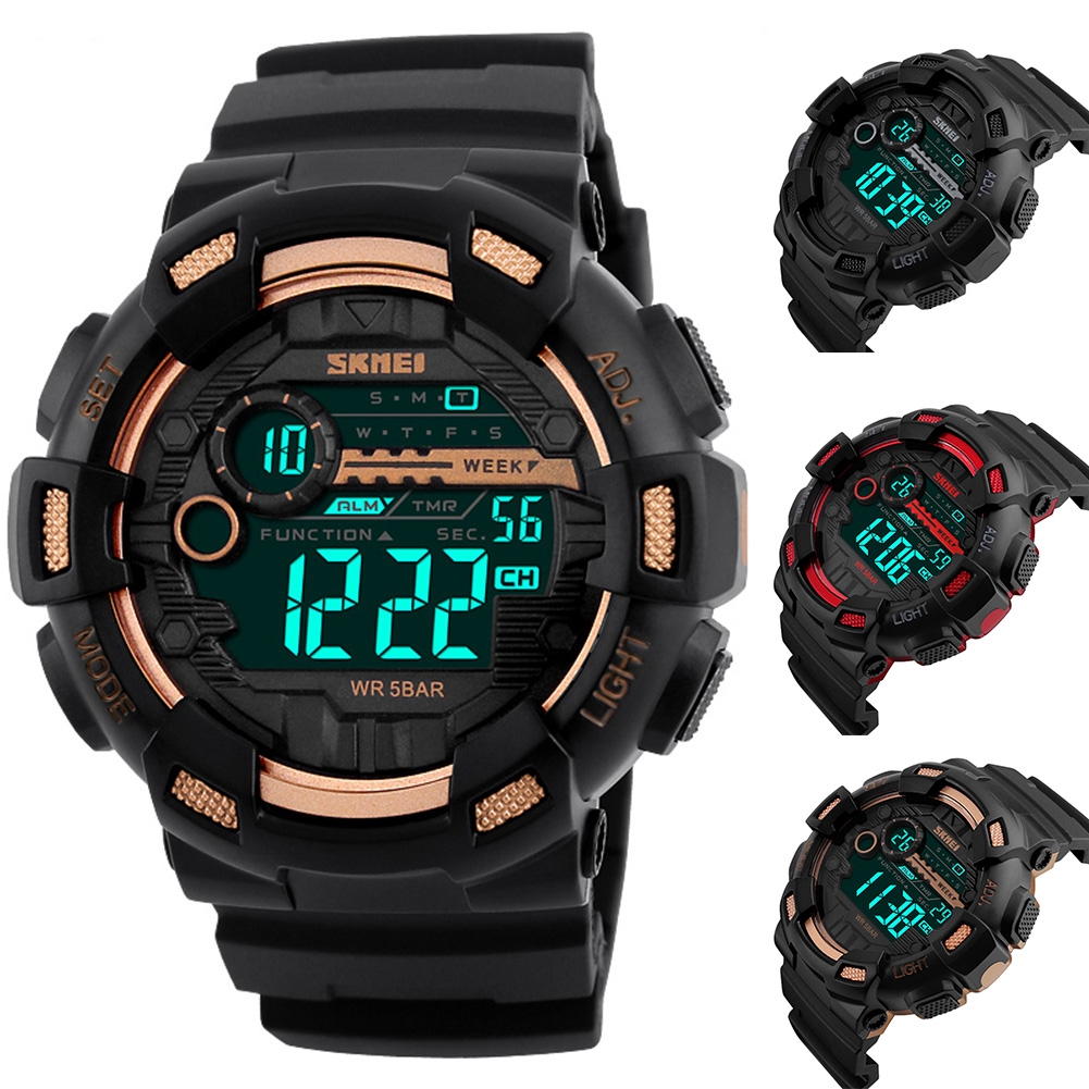 Sports Style Men Wrist Watch Waterproof Electronic Student Digital