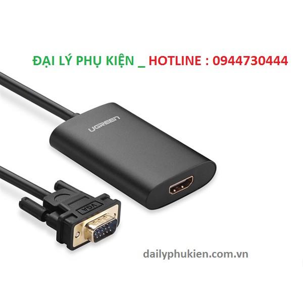 Cáp chuyển đổi VGA to HDMI + Audio 40264 màu đen Ugreen - 2962466 , 639485388 , 322_639485388 , 685000 , Cap-chuyen-doi-VGA-to-HDMI-Audio-40264-mau-den-Ugreen-322_639485388 , shopee.vn , Cáp chuyển đổi VGA to HDMI + Audio 40264 màu đen Ugreen