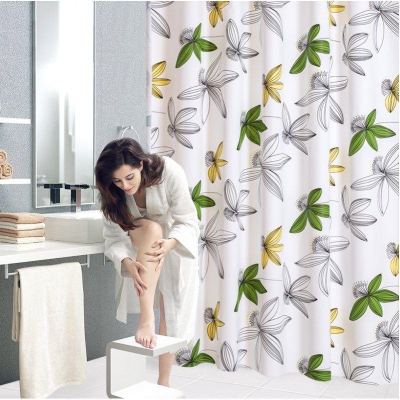 Bộ Rèm Cửa Nhà Tắm / Nhà Vệ Sinh Bằng Vải Dày Chống Thấm Nước / Nấm Mốc / Ẩm Mốc / Rèm Cửa Phòng Tắm