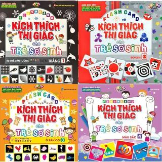 Combo 4 bộ Flash card Kích Thích Thị Giác Cho Trẻ Sơ Sinh - Đen Trắng, Đỏ Đen, Ô bàn cờ, Mầu sắc thumbnail