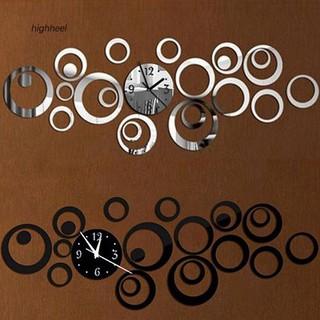 Đồng hồ tròn dán tường trang trí phong cách hiện đại