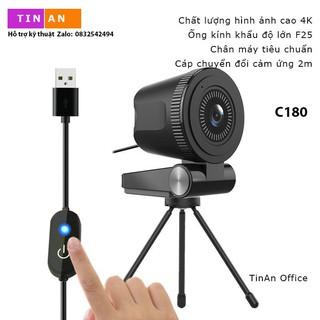 [ 4K 60fps Mic] Webcam Lấy Nét Tự Động, Tốc Độ Siêu Cao 60fps, 4K,Camera USB Góc Nhìn Siêu Rộng, Cho Máy Tính, Macbook thumbnail