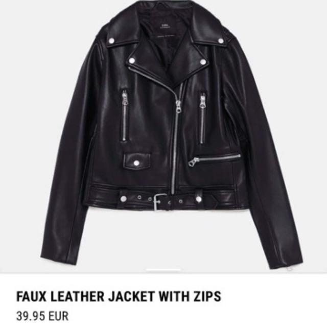 [HÀNG ORDER]Áo da Zara xuất Dư/ video + ảnh thật❌⭕️