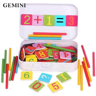 Math Number Stick Children Calculate Game Learning Wooden Funny Puzzle Trendy