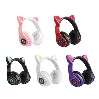Tai Nghe Chụp Tai Bluetooth B39 Hình Tai Mèo
