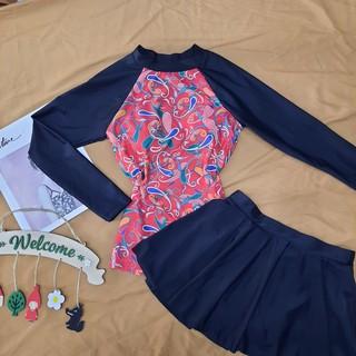 Bikini Dài Tay Kín Đáo Kèm Váy