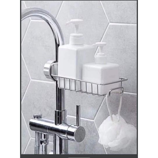 giá kệ gắn với vòi nước bằng thép không gỉ