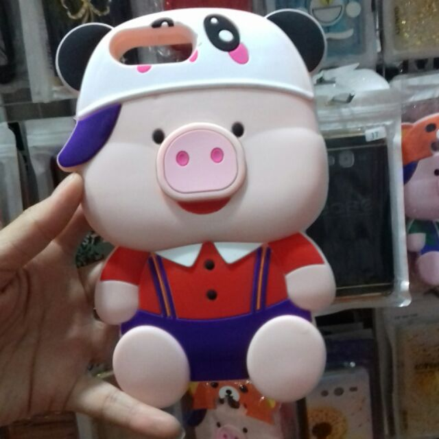 Ốp iphone 7 plus thú heo 3D siêu siêu kute