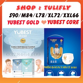 [HOT ] Bỉm YUBEST GOLD CORE ANGEL DÁN QUẦN SIZE S90 M84 L78 XL72 XXL66