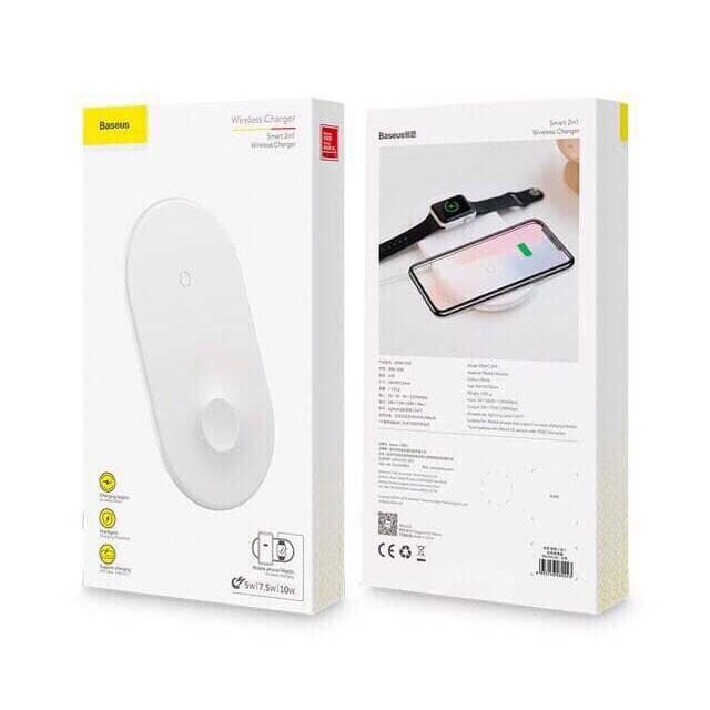 Dock sạc nhanh không dây 2 trong 1 Baseus Dual Smart Wireless Charging Pillow