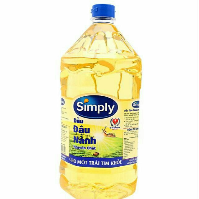 dầu ăn simply 2L. date 2021