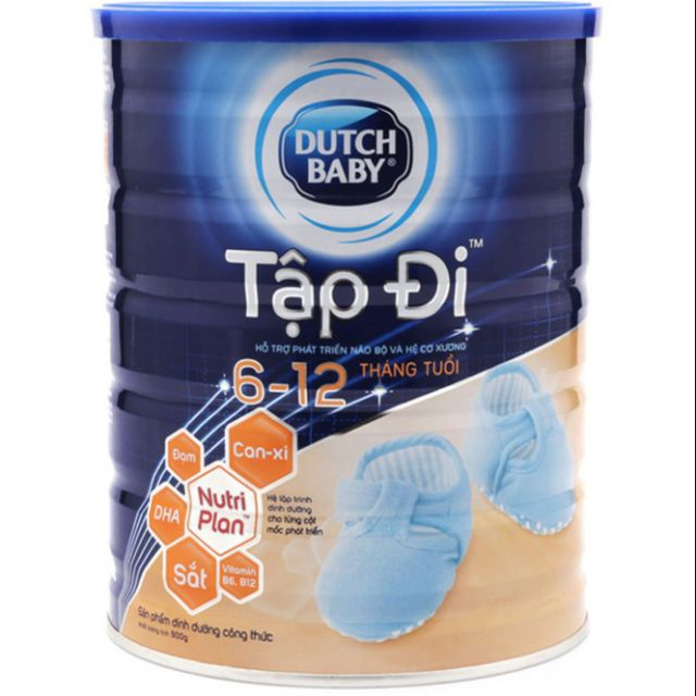 Sữa bột Dutch Baby Tập Đi 900g (6 - 12 tháng) (Date 2020)