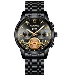 Đồng hồ nam FNGEEN Dây kim loại đúc lịch đôi sang trọng + Tặng hộp đồng hồ + Pin thumbnail