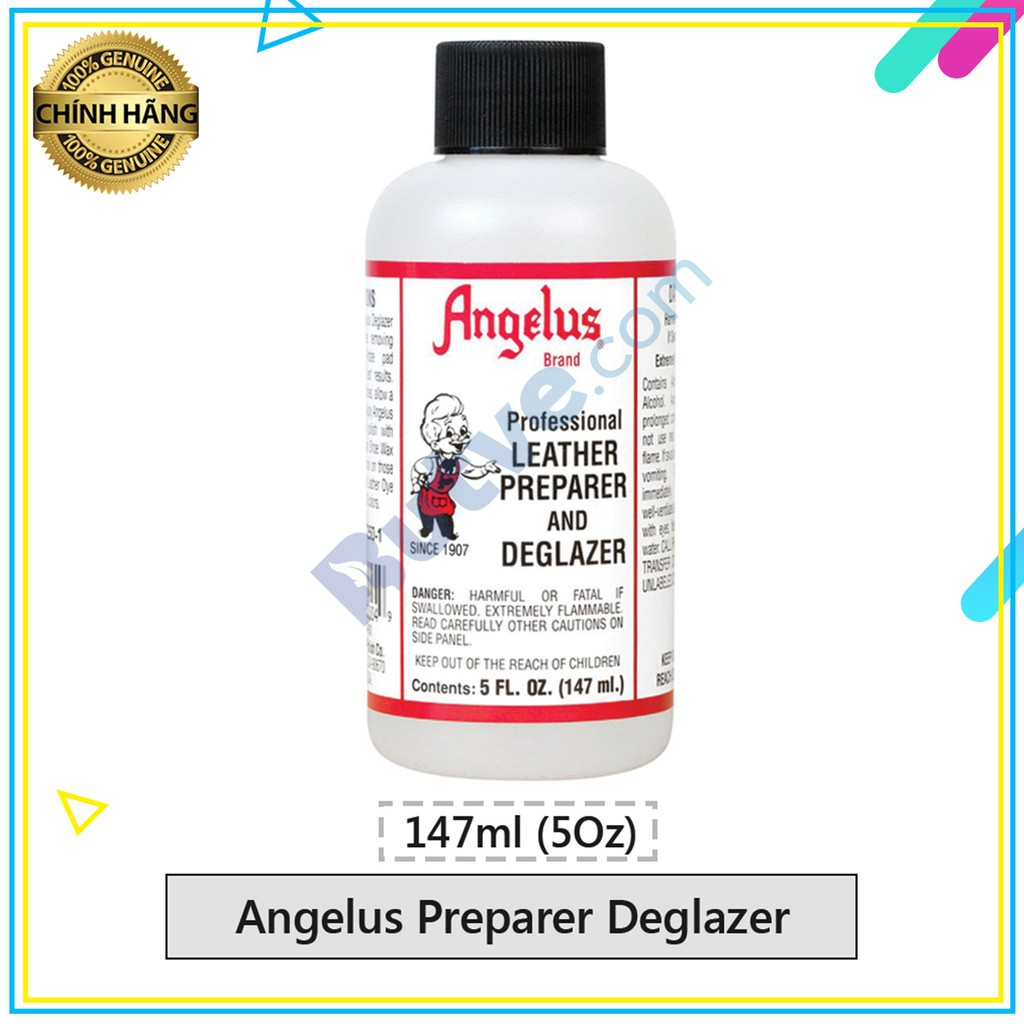 Dung dịch vệ sinh và tẩy lớp bảo vệ màu Angelus Preparer Deglazer – 147ml (5Oz)