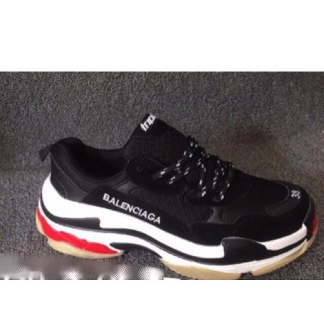 [SALE SỐC-SẴN HÀNG] Giày TRIPLE S đen trắng