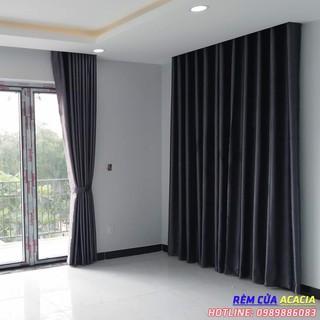 Rèm cửa màu xám đậm đủ size cho cửa sổ, cửa đi, cửa sổ phòng khách, cửa sổ phòng ngủ, chống nắng cực tốt