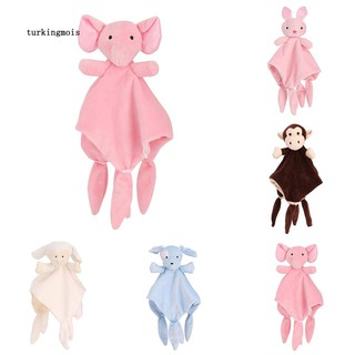 TK-Sleeping Towel Baby Toy Cartoon Dog Sheep Rabbit Monkey Elephant Soothing Doll