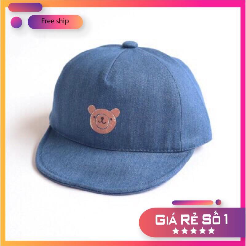 Mũ nón mùa hè cho bé ❤️Mũ nón hoạ tiết gấu dễ thương cho bé ❤️ Mũ lưỡi chai nón lưỡi chai cho bé trai, bé gái