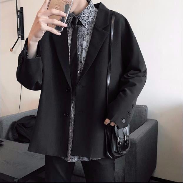 Áo khoác blazer thiết kế đơn giản cao cấp thời trang dành cho nam