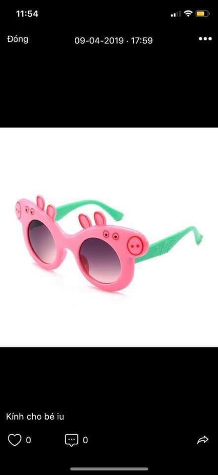Kính Peppa Pig siêu yêu cho bé yêu chống nắng bụi cực yêu