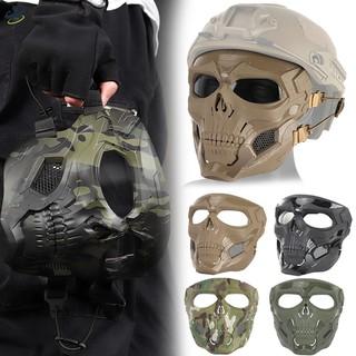 LL Skull Skeleton Full Face Mask Hunting Costume Cosplay Game for Halloween Party @VN
