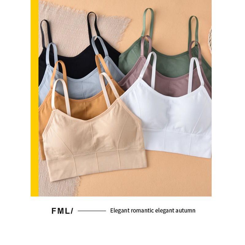 Áo bra nữ - áo bra len gân tăm chất đẹp 2 dây hở lưng siêu hot ABU01