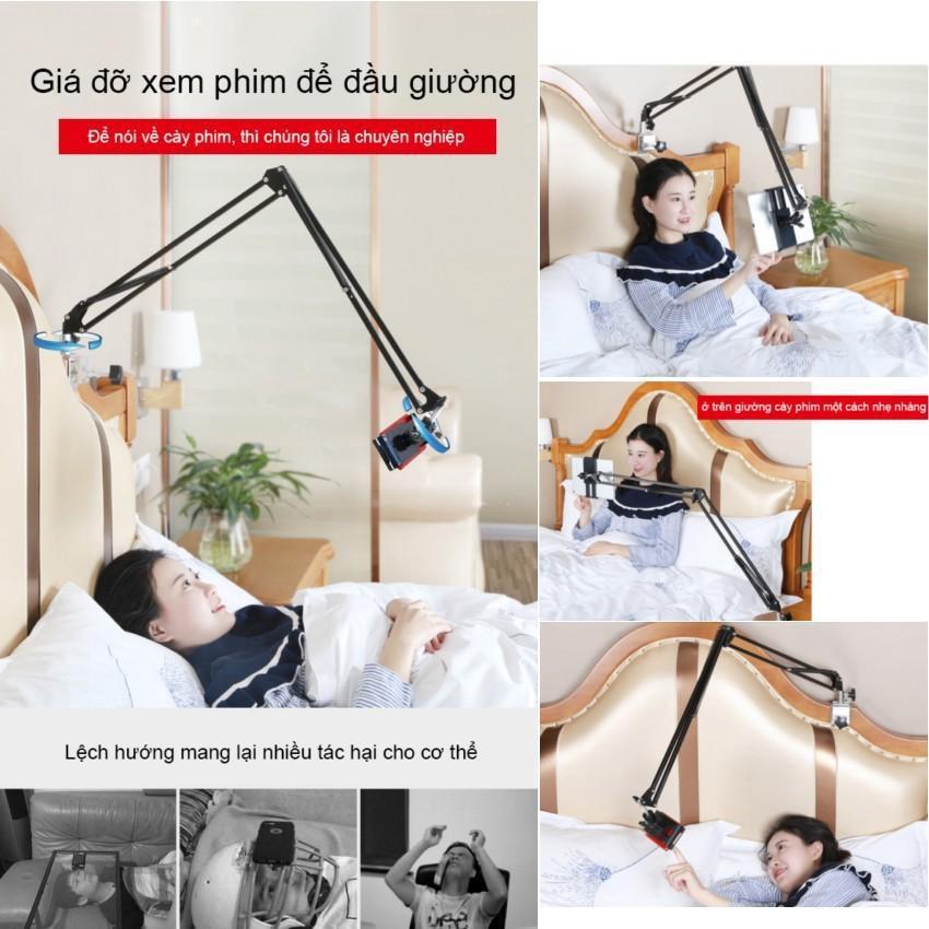Gía đỡ điện thoại, ipad xem phim kẹp đầu giường,giá đỡ ipad kẹp giường, kẹp ipad, kẹp điện thoại đa năng