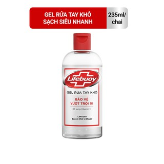 Gel rửa tay khô sạch siêu nhanh Lifebuoy bảo vệ vượt trội 10 (Chai nắp 235ml) thumbnail